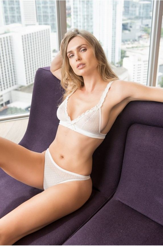 Bra ALEXIA white cotton Cadolle