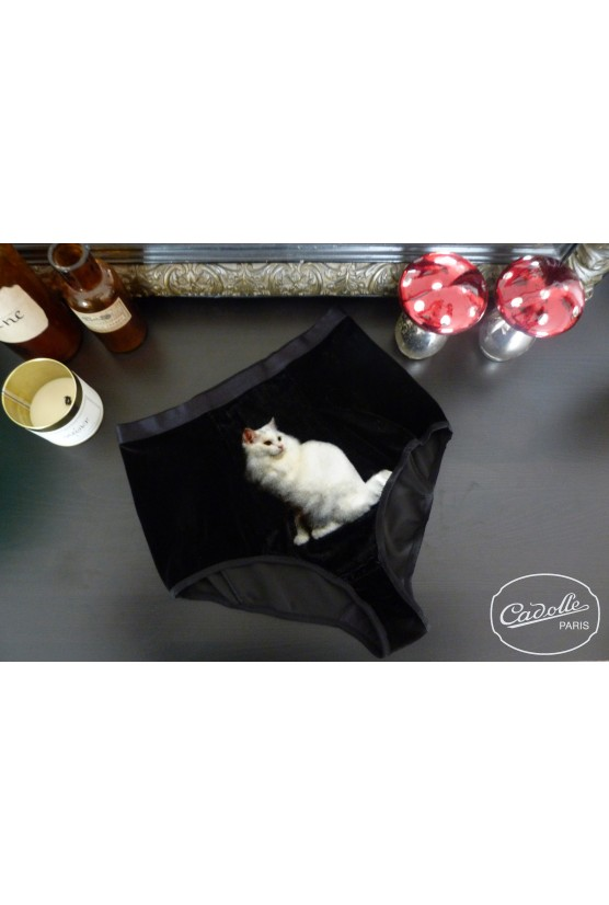 Culotte haute GINA chat blanc Cadolle