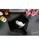 High panties GINA white cat Cadolle