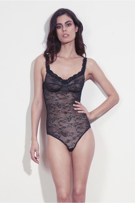 BLACK LACE BODY cadolle