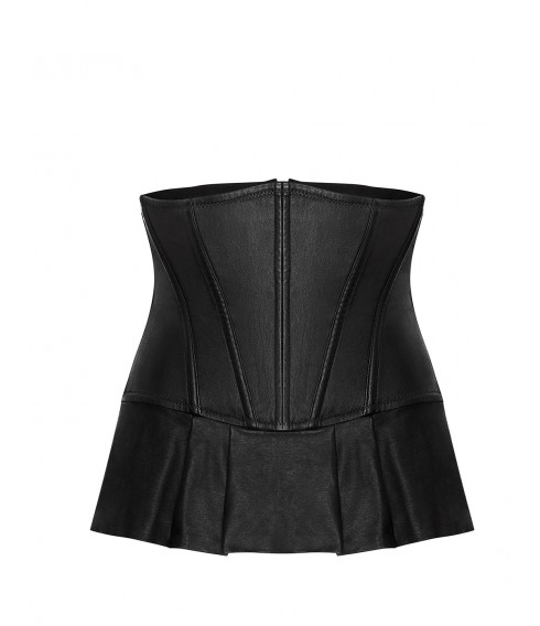 Serre-taille HERA black leather Cadolle