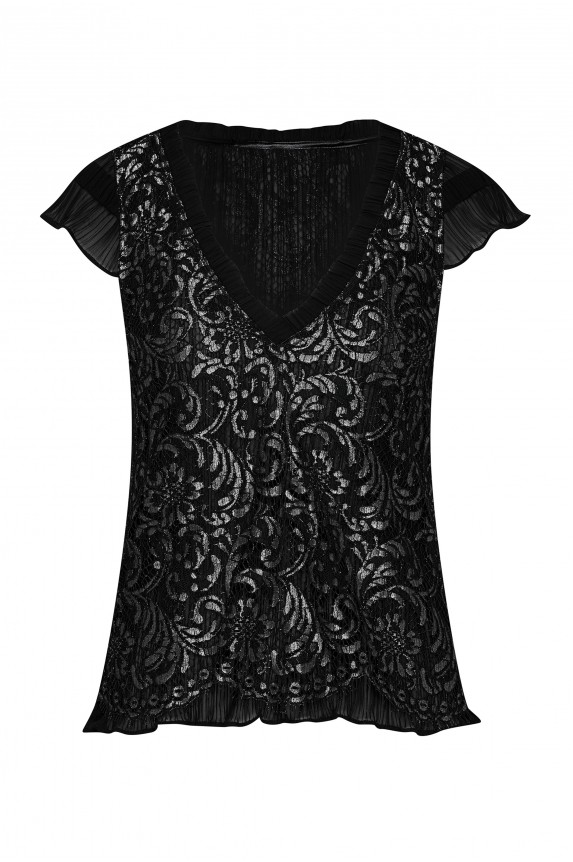 Top ROMY silver lace Cadolle