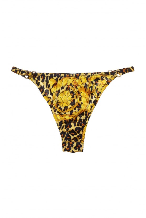 GEISHA animal print silk panties