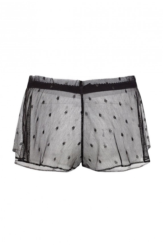 Shorty transparent polka dot