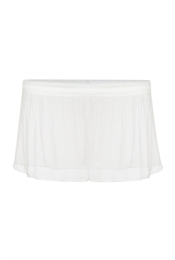 White pleated chiffon shorty - Cadolle