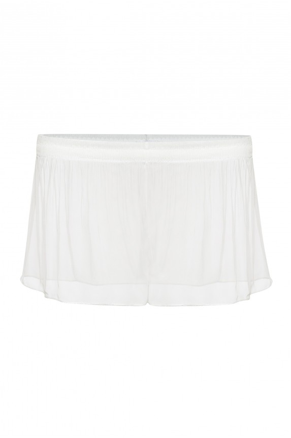 Pleated chiffon TAP PANTS