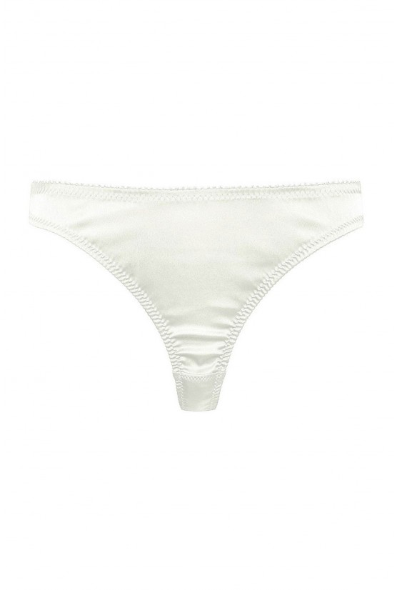 String CATHY ivory satin Cadolle
