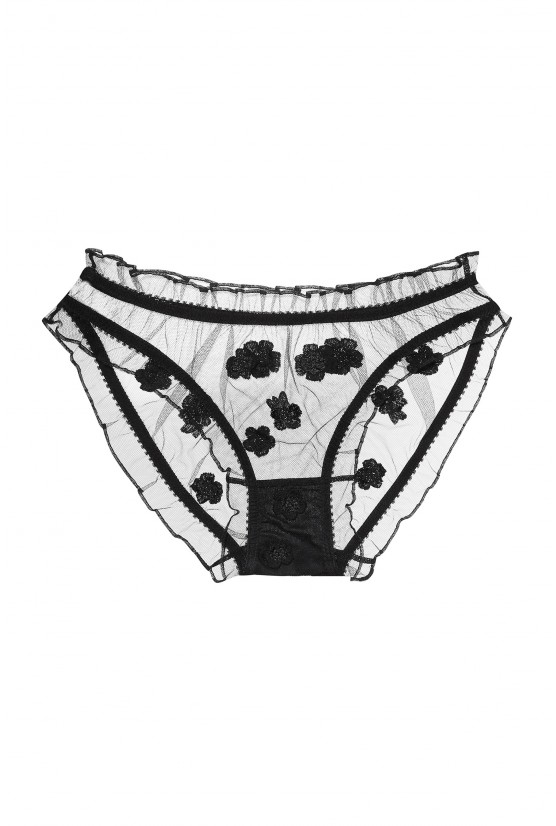 Mimi brief flowers black