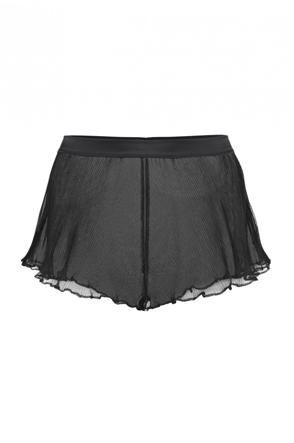 Black Pleated chiffon TAP PANTS