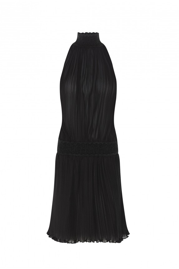 ANGELA dress in pleated chiffon