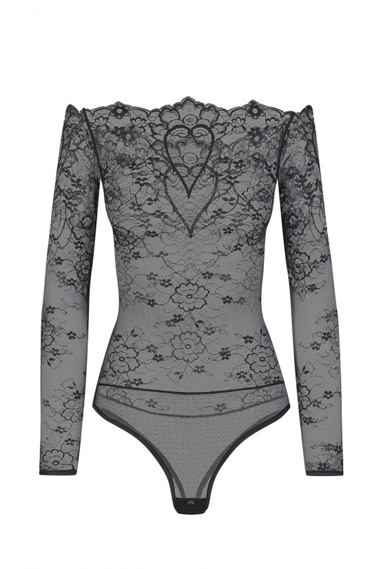 Body HEART black lace Cadolle