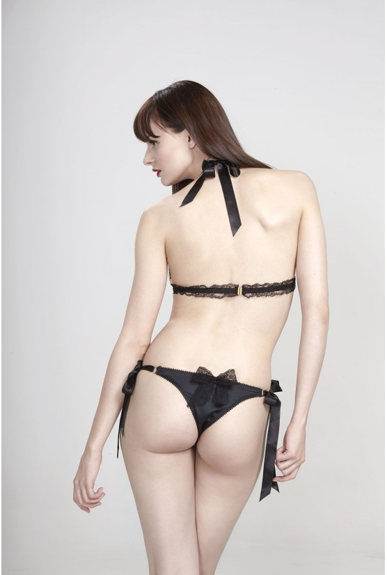 Panties GEISHA black tide bow Cadolle