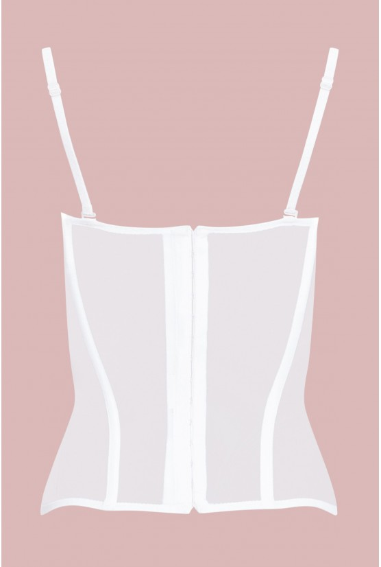 Bustier TALIA white tulle Cadolle