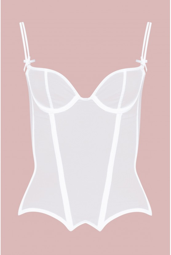 Bustier TALIA tulle blanc Cadolle