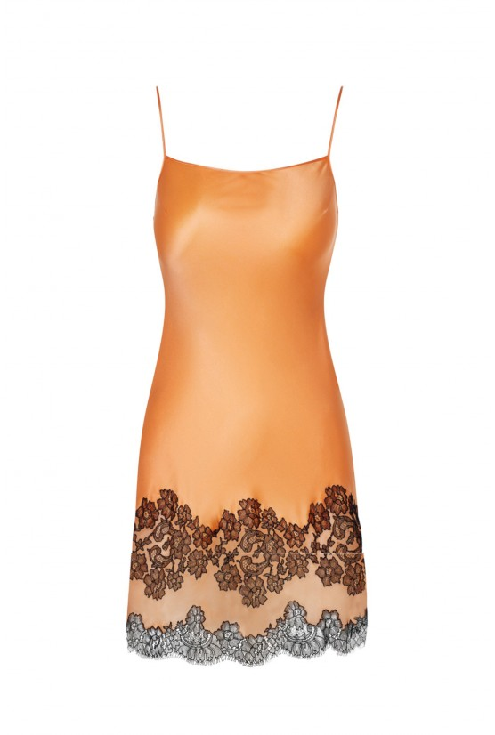 Orange silk Babydoll