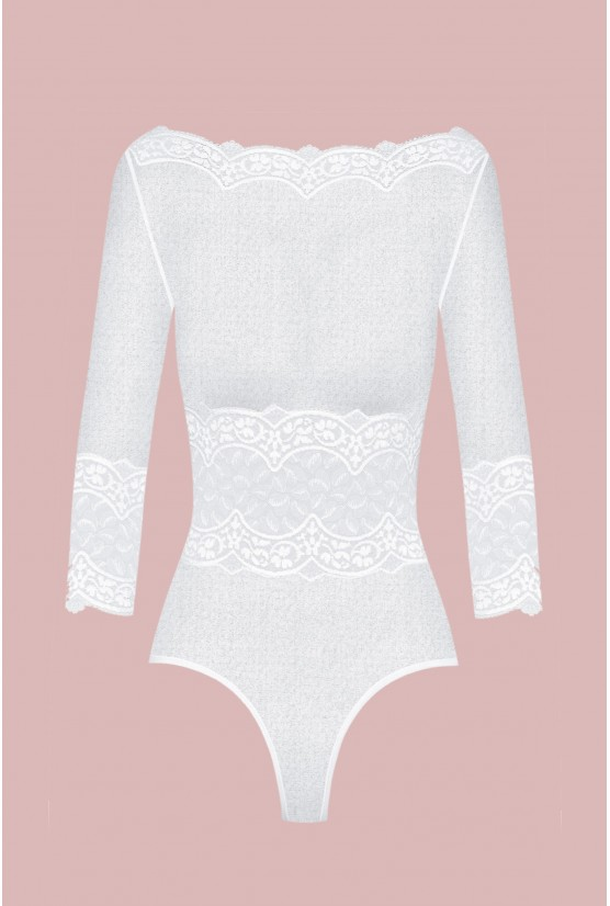Body BYZANCE tulle blanc Cadolle