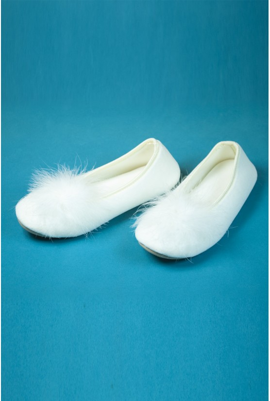 Chaussons plume blanc - Cadolle