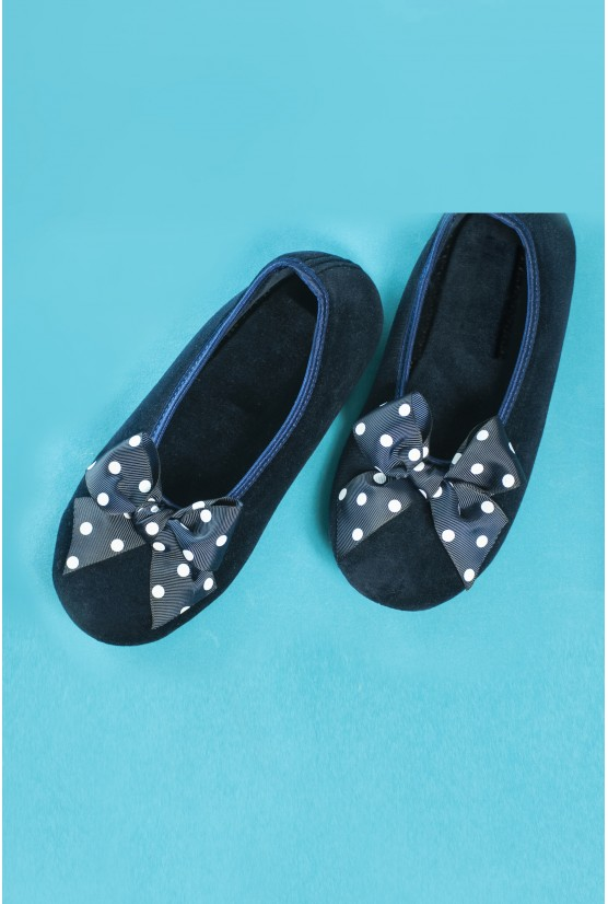 Navy blue home shoes
