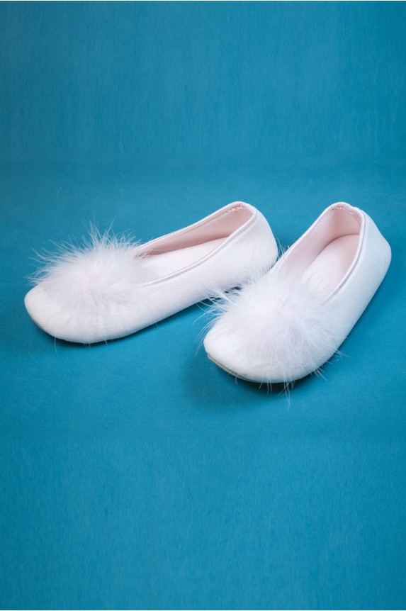 Pink feather slippers - Cadolle