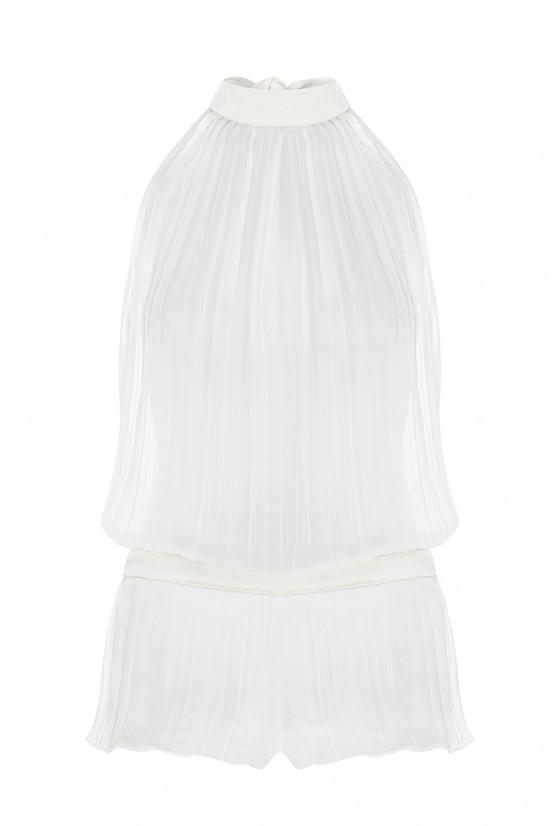 Backless jumpsuit white