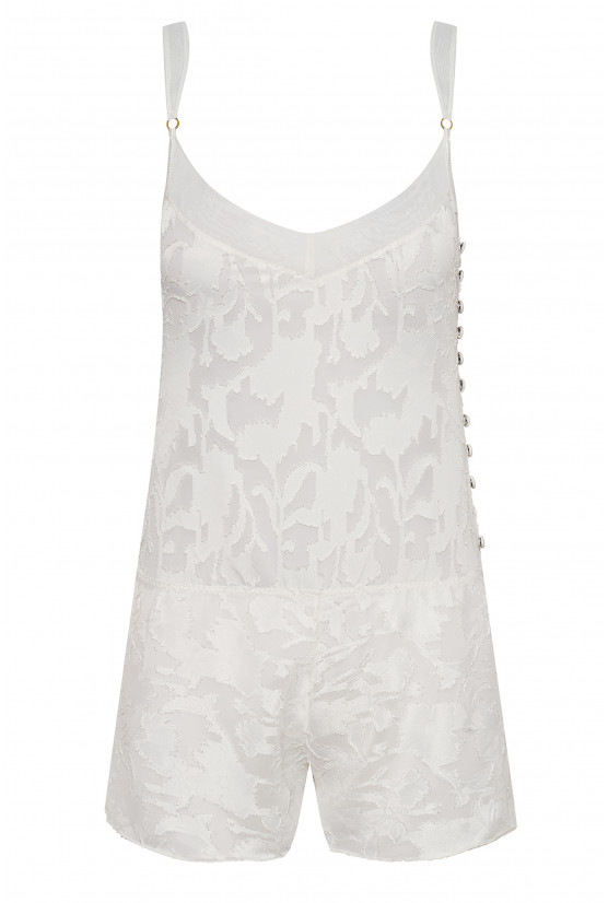 Ivory chiffon playsuit - Cadolle