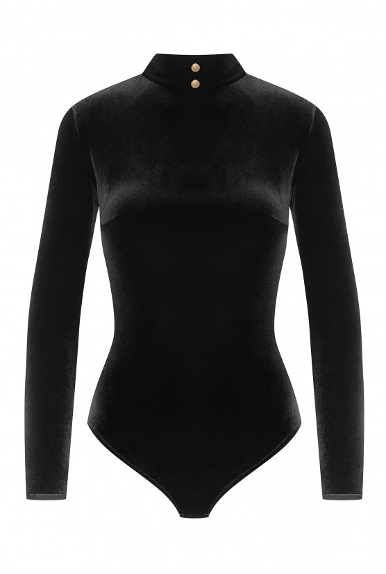Body velours col montant cadolle