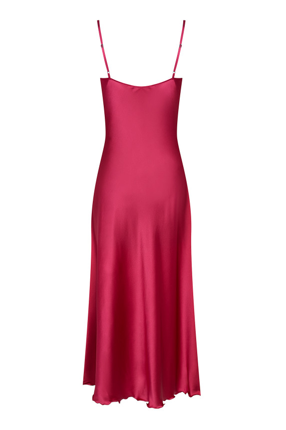 Burgundy silk nightdress