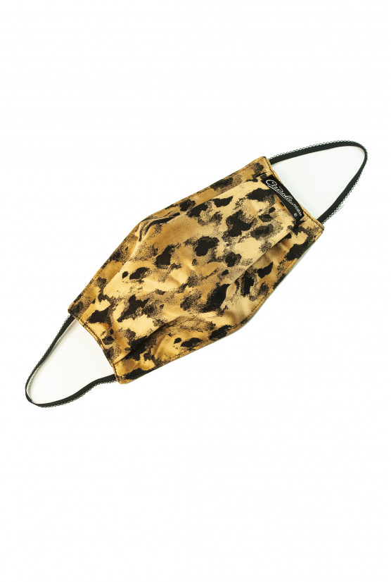 Cadolle golden leopard facemask