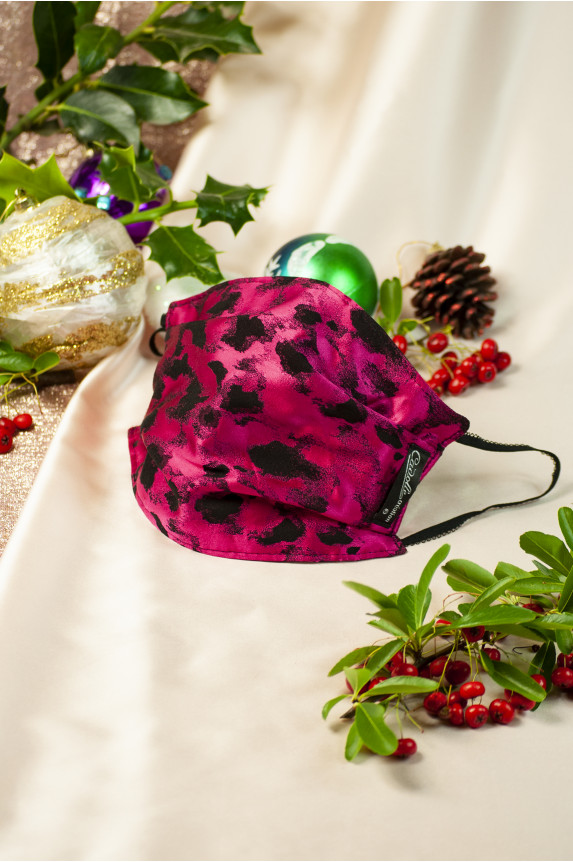 Cadolle fuchsia leopard facemask