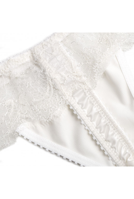 ANIA ivory satin thong - Cadolle