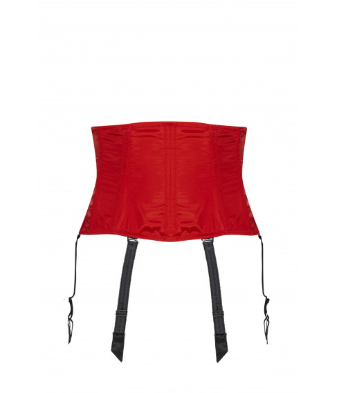 Serre-taille RAJA satin rouge Cadolle