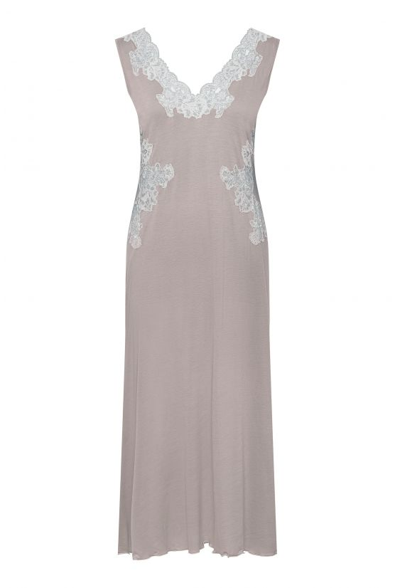 Beige modal nightgown