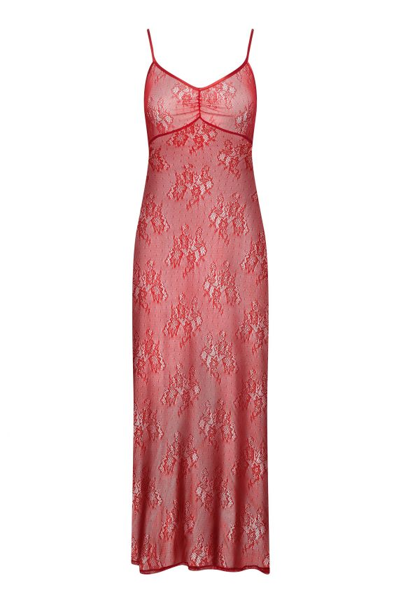 Red lace nightgown