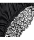Black satin and lace tanga - Cadolle
