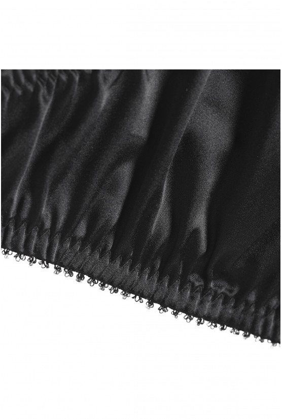 String CATHY black satin Cadolle