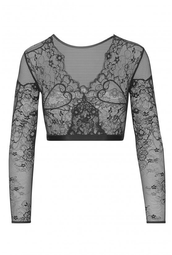 Mini top HEART black lace Cadolle