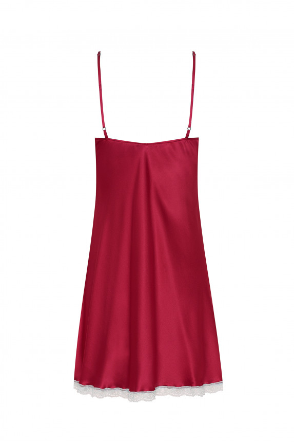 Burgundy silk nighty