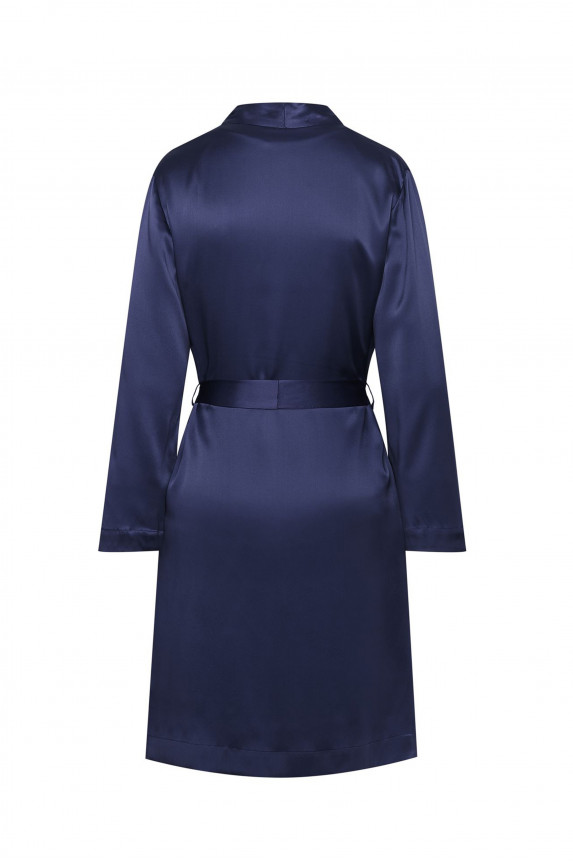 Navy silk Robe