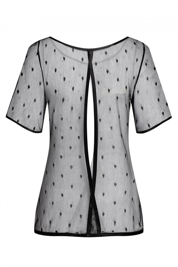 Blouse with silver dots