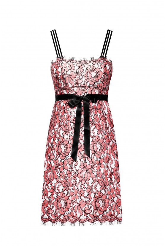 SAPHO strawberry lace dress - Cadolle