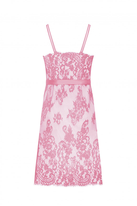 Pink lace mini dress Cadolle