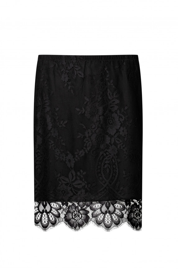 Silk and wool skirt