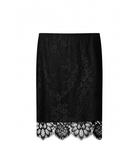 Black silk and wool skirt - Cadolle