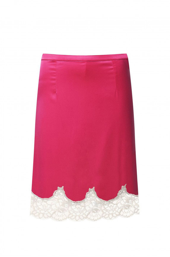 Pink satin skirt LOUISE