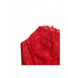 SCARLET red lace corset - Cadolle