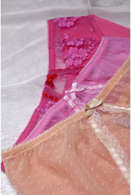 924 bright pink lace high panties - Cadolle