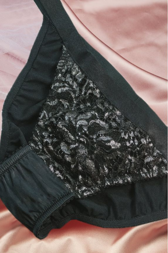 Panties MIMI silver lace
