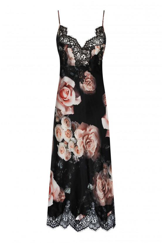 Rose silk nightgown - Cadolle