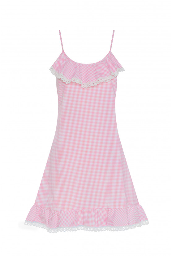 Pink gingham babydoll - Cadolle