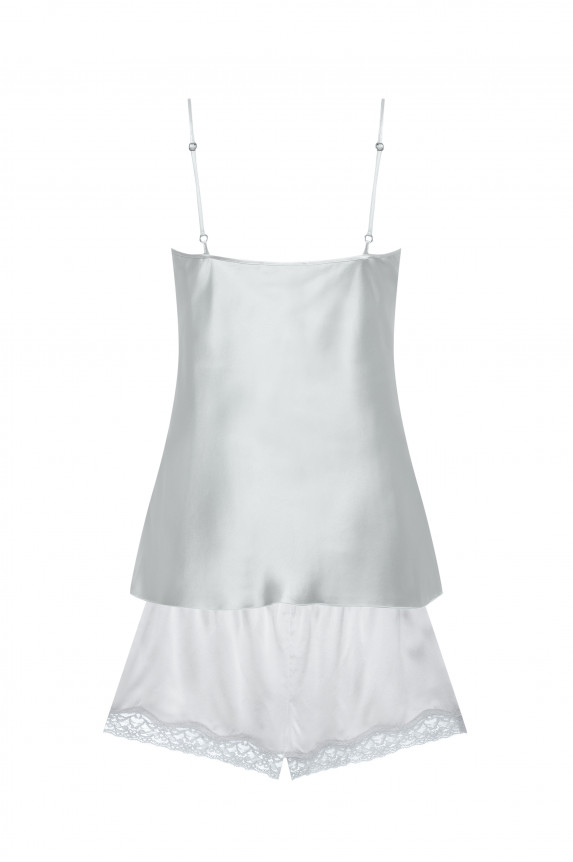 Camisole and shorts grey silk
